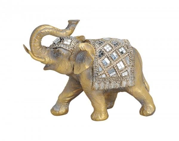 Edler afrikanischer Elefant 16 cm gold Afrika Figur Elephant Modell