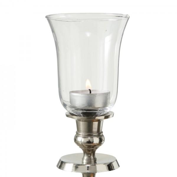 5x XL Teelichtaufsatz Kerzenleuchter 12cm Glas Windlichtaufsatz Teelichthalter