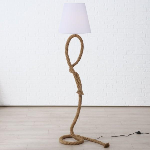 Stehlampe Tau Lampe Seil 170cm Braun Stehleuchte Taulampe