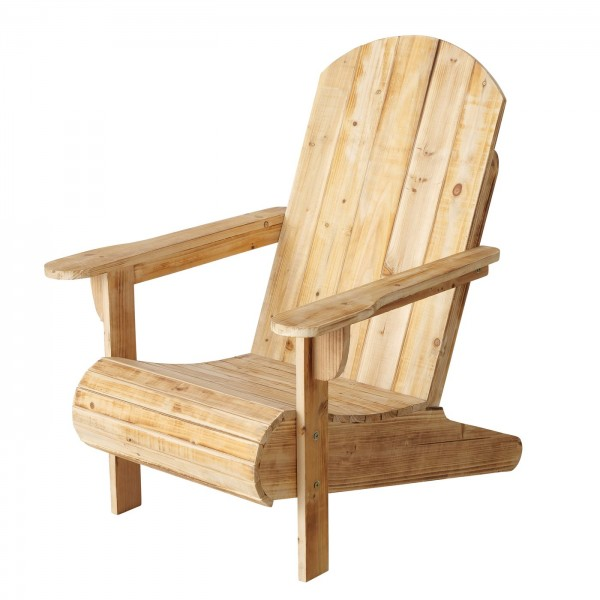 Sessel Barry Natur Holz Landhaus Latten Sauna Entspannung Mediterran Sessel Relax