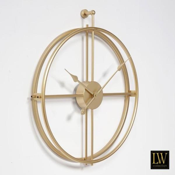 Wanduhr 52cm Alberto Gold Metall Uhr Wand