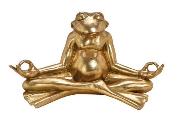 Genialer Frosch Relax Gold 47 x 26cm Modell Relaxfrosch Yoga Yogafrosch