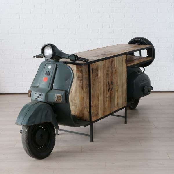Edler Roller Schrank Boltze 245cm Bar Regal Sideboard Kommode Vespa Motorrad