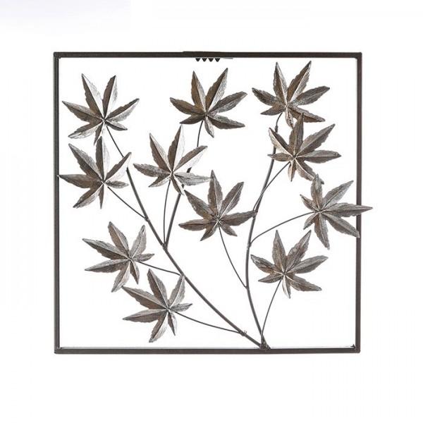 Wand Dekoration Ahorn Casablanca Eisen Ahornblätter Wanddeko Blatt Pflanze Bild