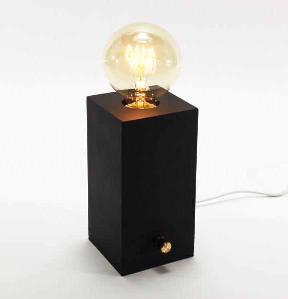 Geniale Tischleuchte Edison mit Dimmer Schwarz inkl Birne Tischlampe Lampe