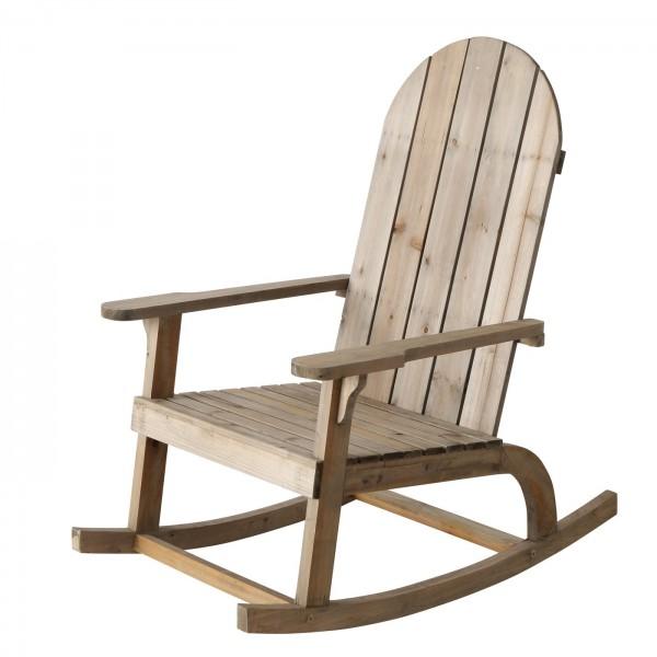 Edler Schaukelstuhl Jacky Natur Holz Schaukel Sessel Entspannung Mediterran Sessel Relaxen