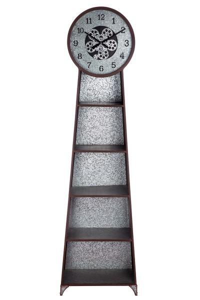 Geniales Regal mit einer Uhr 200cm Schrank Metall Schrank Wanduhr Industrie Instudry