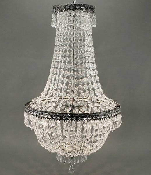 KRONLEUCHTER KRISTALL 65cm HÖHE 3 FLAMMIG DECKENLAMPE LAMPE