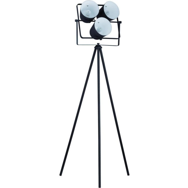 Stativlampe Tripod 3 Projektoren Schwarz Metall Stativ Stehlampe Lampe