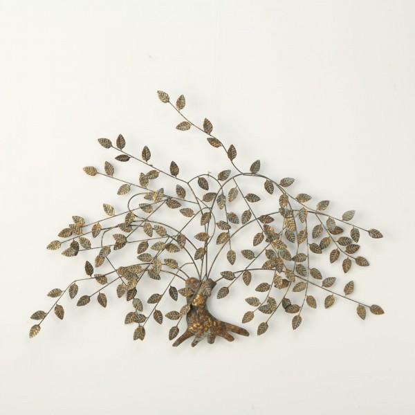 Wandobjekt Wanddeko Gold Wand Dekoration Baum Bild B125cm Eisen Baumdekoration