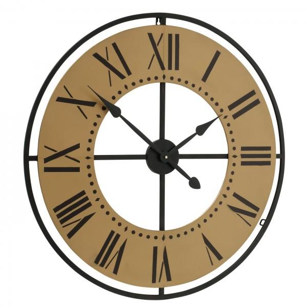 Wanduhr Uhr Chicago D76cm Eisen Metall Braun Industrie Antik Puristisch