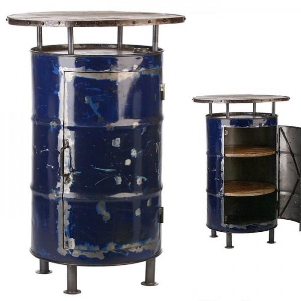 Genialer Stehtisch Barrel von Casablanca Gilde Fass Tisch Ölfass Schrank Metall