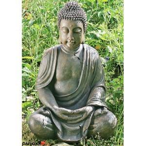 BUDDHA SKULPTUR 70cm WETTERFEST