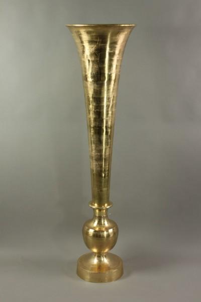 XXL Vase Queen 150cm Aluminium Gold Bodenvase Amphore Alu Dekovase