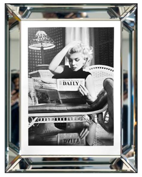 Bild Spiegelrahmen Marilyn Monroe 90cm Daily Mirror Colmore Wandbild Spiegel
