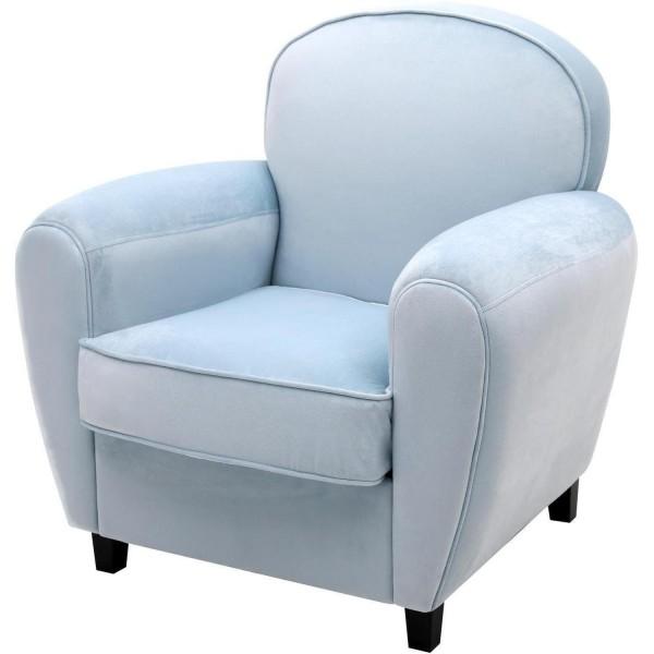 Sessel Hellblau Samt Jumbo Blau Loungesessel Ohrensessel