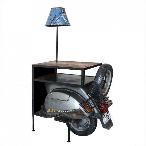 Edler Beistelltisch Roller Casablanca 140cm Metall Holz Regal Kommode Regal Vespa Motorrad