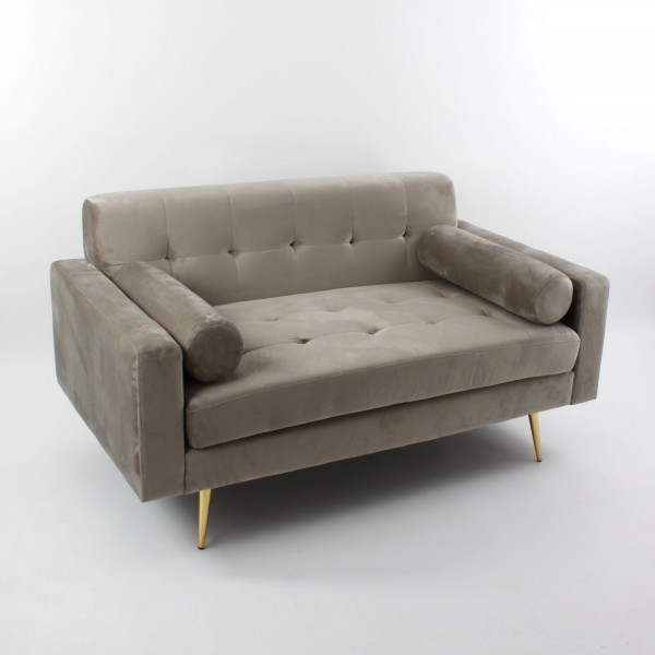 Edles Trend Sofa in Taupe Braun Modell Kylie 145cm Couch Sessel Loungesofa
