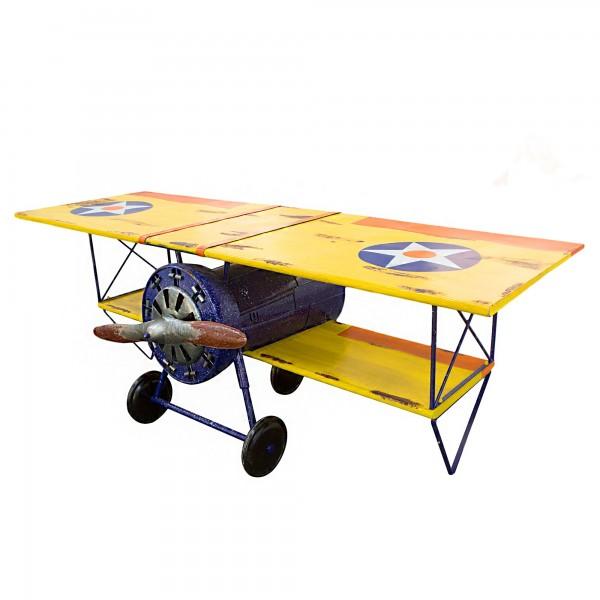 Doppeldecker Bar Tisch Casablanca 250cm Metall Regal Sideboard Flugzeug