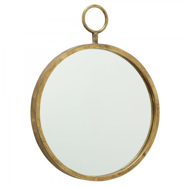 Massiver Wandspiegel Eisen Gold Prado Rund 66cm Spiegel runder