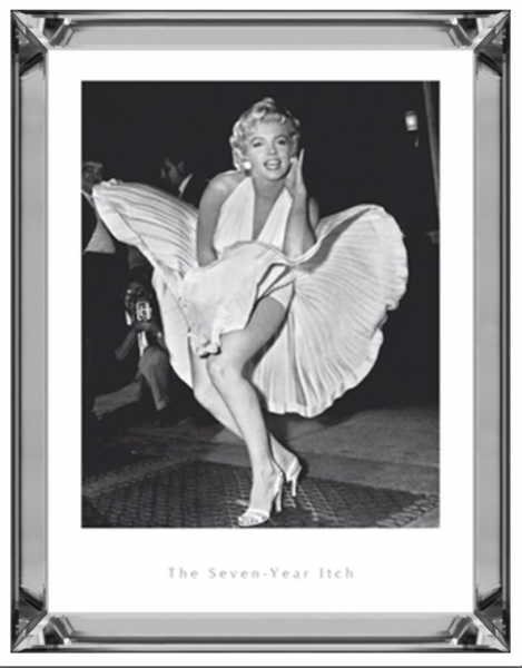 Bild Spiegelrahmen Marilyn Monroe 90x70cm 7 Year Itch Colmore Wandbild Spiegel