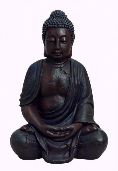 Edler Buddha 68cm in Braun aus Magnesia Figur Modell Mönch Garten