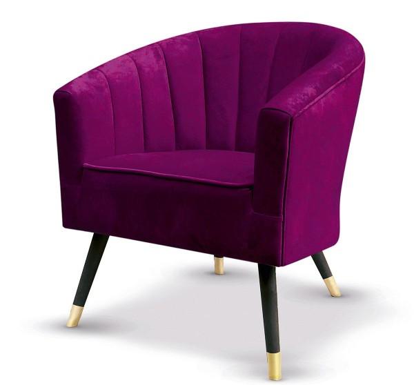 Sessel Fiore Fuchsia Casablanca Samt Couch Lila Rosa Loungesofa