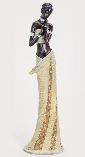 XXL afrikanische Frau 42 x 11cm Afrika Figur Afrikanerin Modell