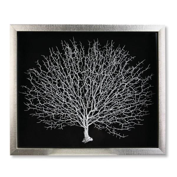 Wandbild Lebensbaum 60x50cm Casablanca Gilde Baum Silber Glas Bild
