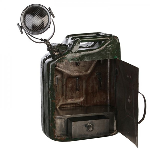 Tischlampe Lampe Benzinkanister Casablanca Schrank Ölkanister Kanister Tischleuchte