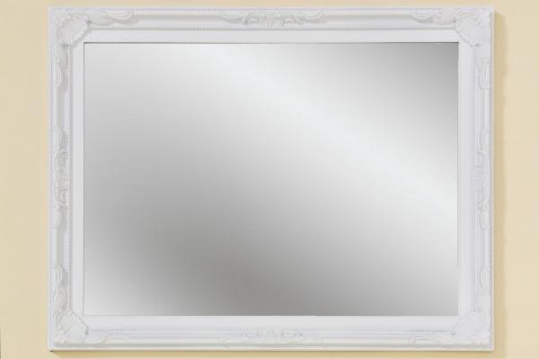 Wandspiegel Barock 44x34cm Weiß Holzrahmen Spiegel Barock Antik