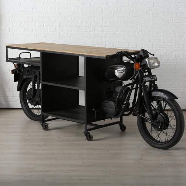 Regal Tisch Motorrad Sanna 280cm Metall Sideboard Theke Anrichte Bar