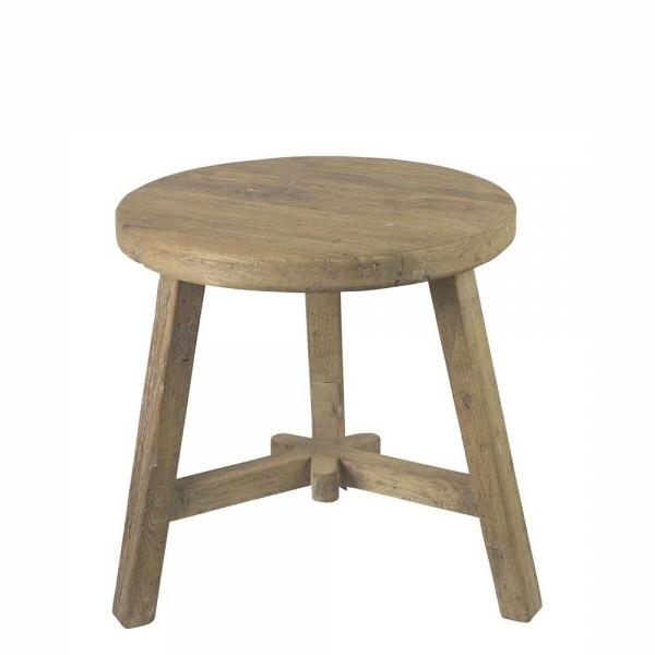 Beistelltisch Tisch Holztisch Hocker Holzhocker Schemel Sitzhocker Holz