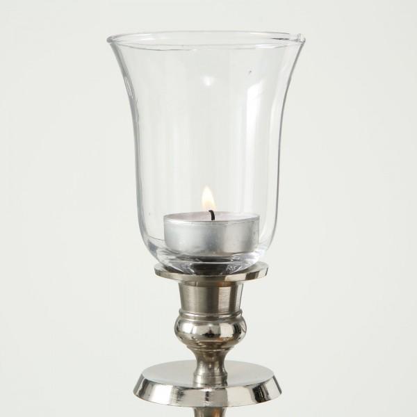 XL Teelichthalter 12cm für Kerzenleuchter Glas Windlichtaufsatz Teelichtaufsatz