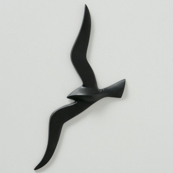 Möwe Modell Schwarz 36cm Möwen Vogel Aluminium Wanddeko Bild