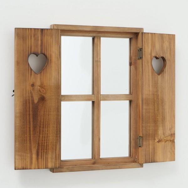 Wandspiegel Seppl Braun Fensterladen Fenster Landhaus Spiegel Fensterläden