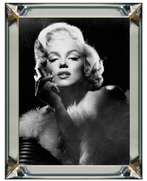 Bild Spiegelrahmen Marilyn Monroe 90x70cm Zigarette Colmore Wandbild Spiegel