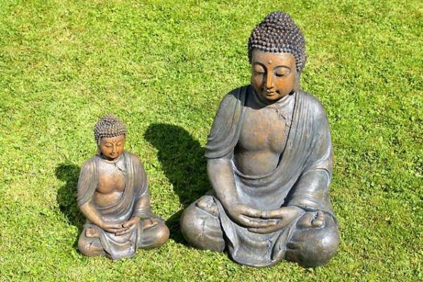 BUDDHA SKULPTUR 41cm FENG SHUI STATUE FIGUR MODELL NEU
