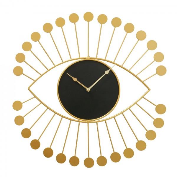 Geniale Wanduhr Viosos 46cm Auge Gold Eisen Uhr Wimpern