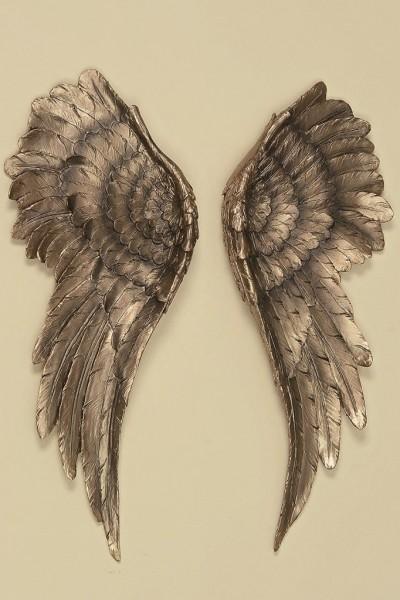 Wanddeko Engelsflügel 2 Stück Antik Gold 54x22cm Flügel Engel Dekoration
