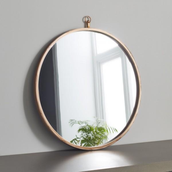 Wandspiegel rund Gold 55cm Metall mit Ring Spiegel runder