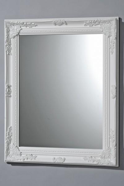HOCHWERTIGER WANDSPIEGEL IN WEISS MODELL BAROCK 82x62cm