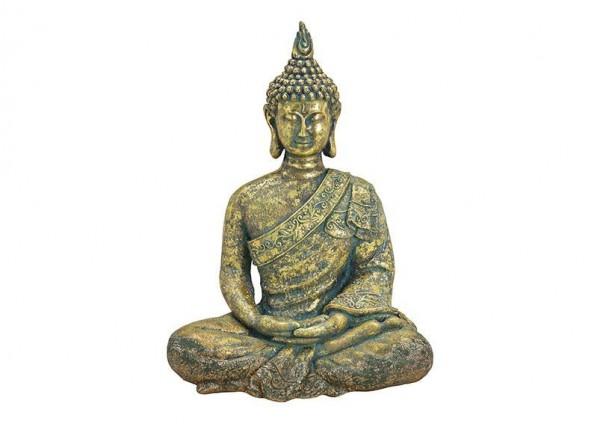 XL Buddha 67cm Gold Antik Figur Modell Mönch Buddhafigur Statue