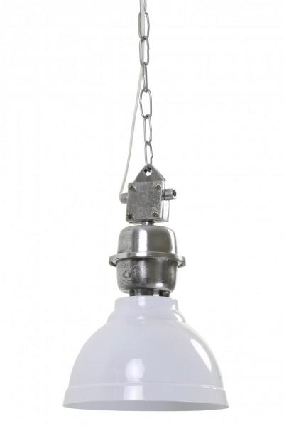 Deckenlampe Clinton Weiß Alu 22cm Durchmesser Industrie Industrielampe