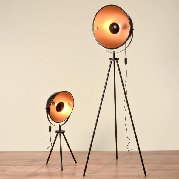 Studiolampe mit 77cm Höhe und einem goldenen Schirm Stehlampe Lampe Studio