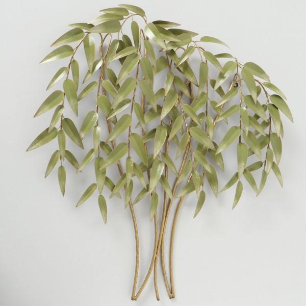 Wandobjekt Bambus Bamboo Nachbildung Pflanze H92cm B88cm Modell Eisen