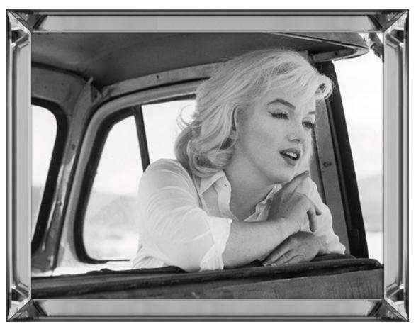Bild Spiegelrahmen Marilyn Monroe 90x70cm Misfits Colmore Wandbild Spiegel