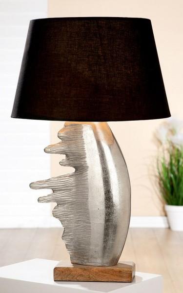 Stehlampe Fuego Casablanca 67cm Gilde Braun Schwarz Silber Tischlampe Lampe