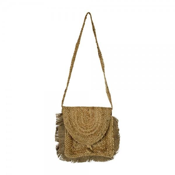 Geniale Tasche Handtasche Strandtasche Jute Natur Schultertasche Crossbody