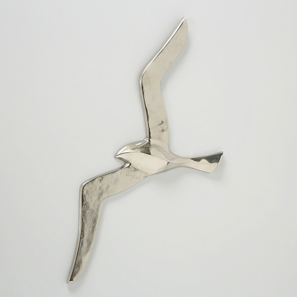 XXL Möwe Silber 65cm Vogel Modell Möwen Raw Nickel Vogel Aluminium